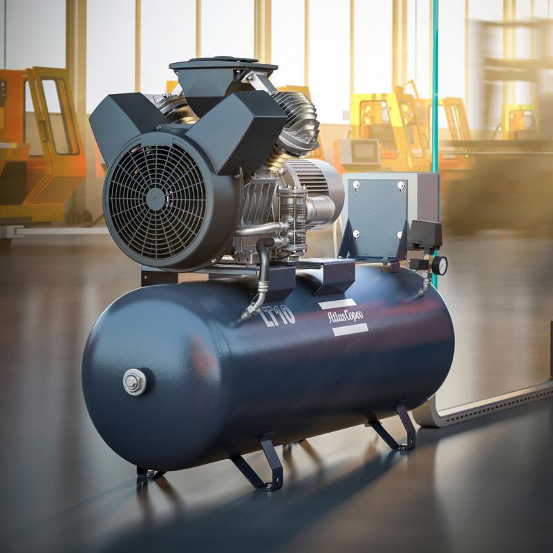 Atlas Copco LE LT Piston Air Compressor Main 800