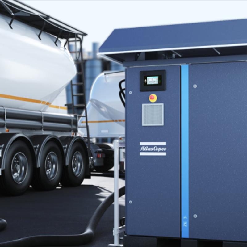 Atlas Copco ZE & ZA (VSD) Low pressure oil free screw compressors