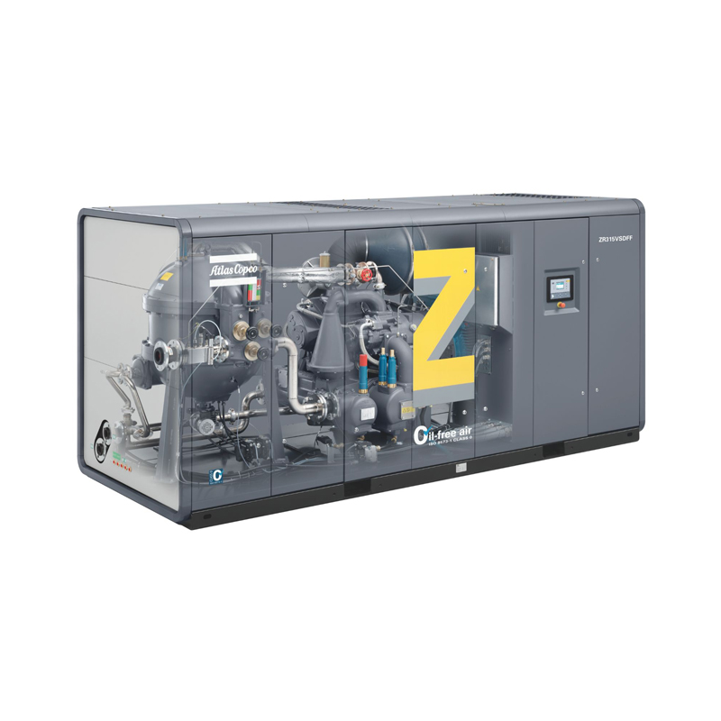 Atlas Copco ZR ZT VSD Rotary screw rotary oil free air compressors