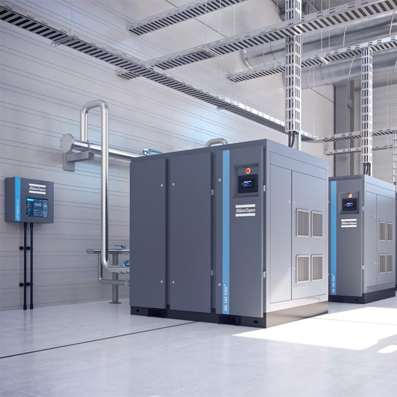 Atlas Copco ZR ZT Rotary screw rotary oil-free air compressors