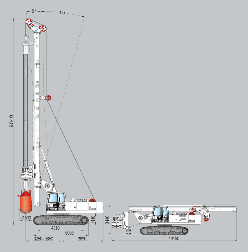 XCMG XRL150DIII ROTARY DRILLING RIG